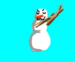 snow man dabs