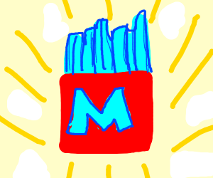 Blue McDonald's frys
