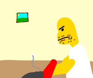 Homer Vacuuming