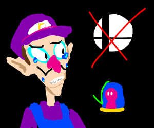 waluigi depressed he aint in smash
