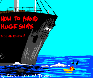 book cover: how to avoid huge ships