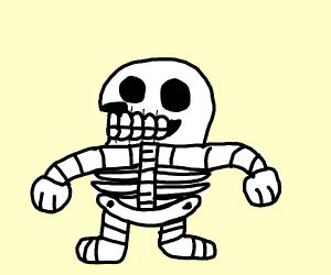 knucuckles the skeleton - sans OC