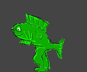 Walking Green Fish monster