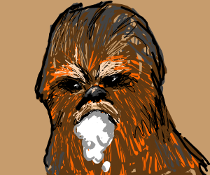 Chewbacca with rabies
