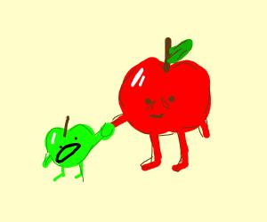 an apple has an apple child