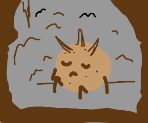 Cave with a depressed monster