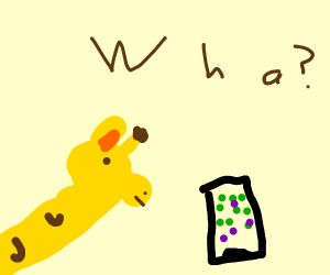 Giraffe doesn't know what an IPad is