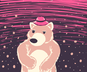 Bear with a hat