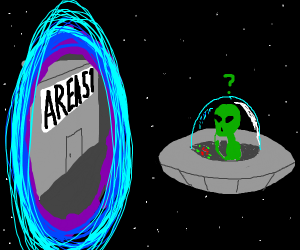 Alien finds a portal to Area 51
