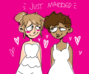 A couple just married