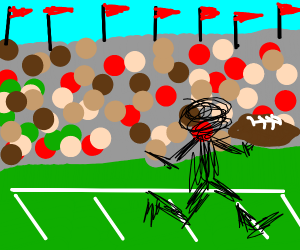 Scribble football player