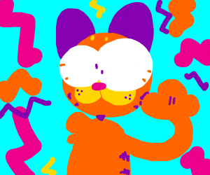 Garfield on crack