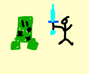Walk Around Like That Creeper Diamond Sword
