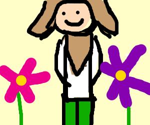 The wodden god of flowers