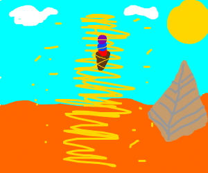 Ice cream in a sandstorm