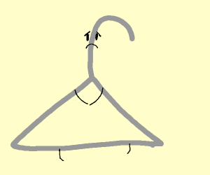 Sad coat hanger