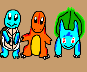 Choose your starter Pokemon!