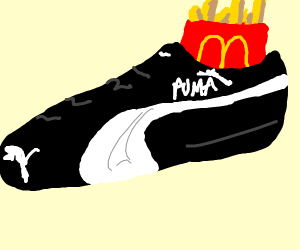 mcds fries on a puma shoe