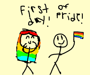 It's the first day of Pride Month