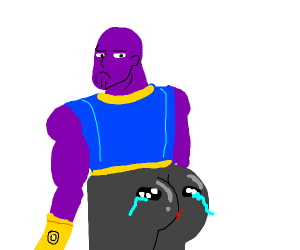 strange purple being with an ass thats sad :(