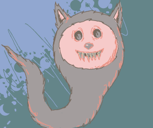 scary ghostly clown-furry