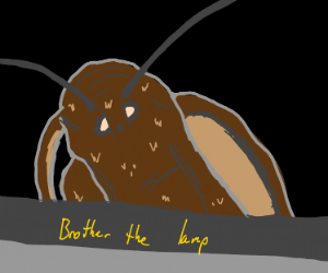 Bored li'l monochrome polka-dotted moth
