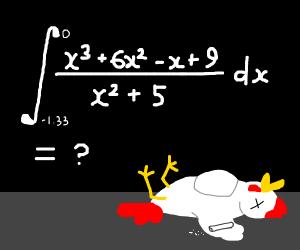 math killed a chicken