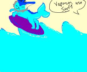Vaporeon surfing