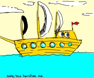 Spongebob becomes a ship