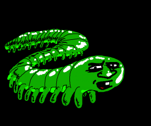 Worm with legs and a face