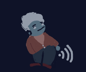 old lady emits butt wifi
