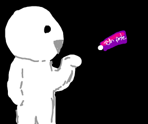 odd1sout with grape flavored teth paste