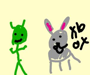 shrek watches donkey play video games