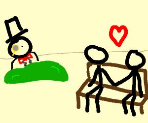 Dapper guy stalks homosexual couple