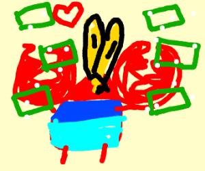 Krab likes salty money