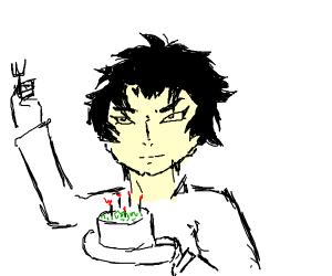 akira fudo eating cake
