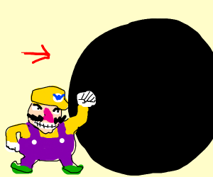 wario going into a black hole
