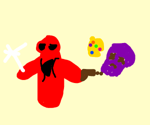 Spiderman kills Thanos