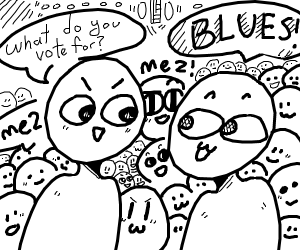 people vote for blues