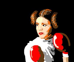 Princess Leia is a boxer