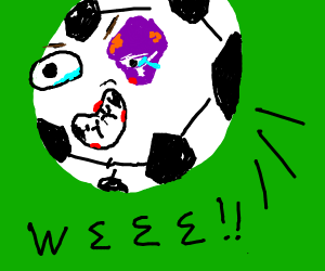 Happy soccer ball.