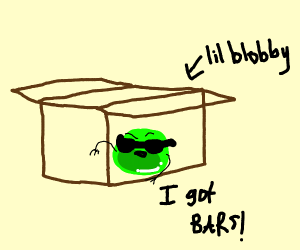lil Blobby in his box