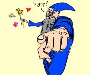 Wizard wonders if u gay