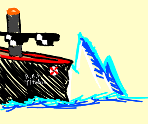 Titanic hits iceberg LIKE A BOSS