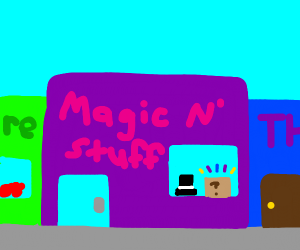 Magic store in between two normal stores