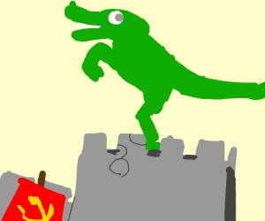 T-Rex in a Castle