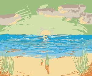 Scenic beach