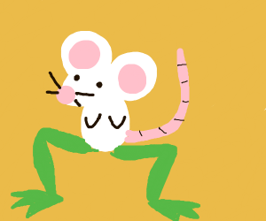Mouse with frog legs