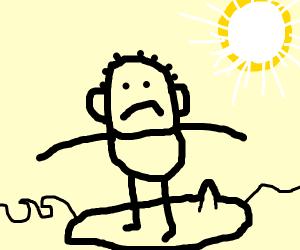 Unhappy Surfer