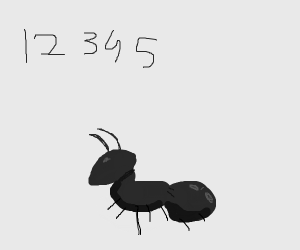 Ant with numbers 1-5